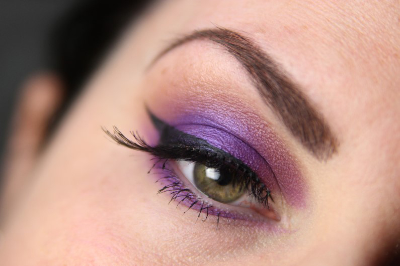 Ultra Violet Smokey Eyes - Fertig 1