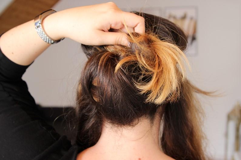 Festivalfrisur mit Haarband - Schritt 3