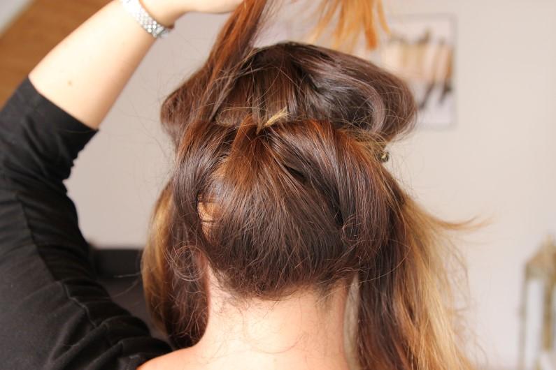 Festivalfrisur mit Haarband - Schritt 5