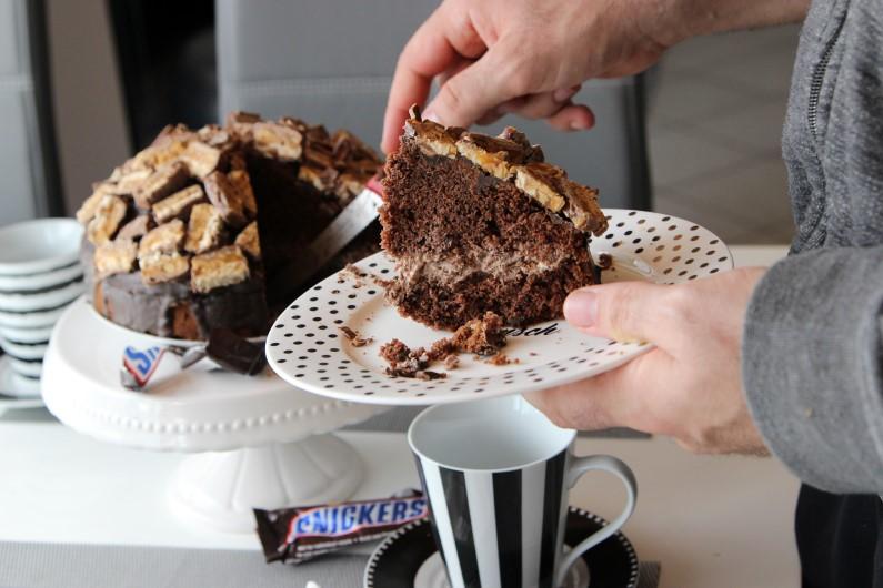 Snickers Schokoladentorte 3
