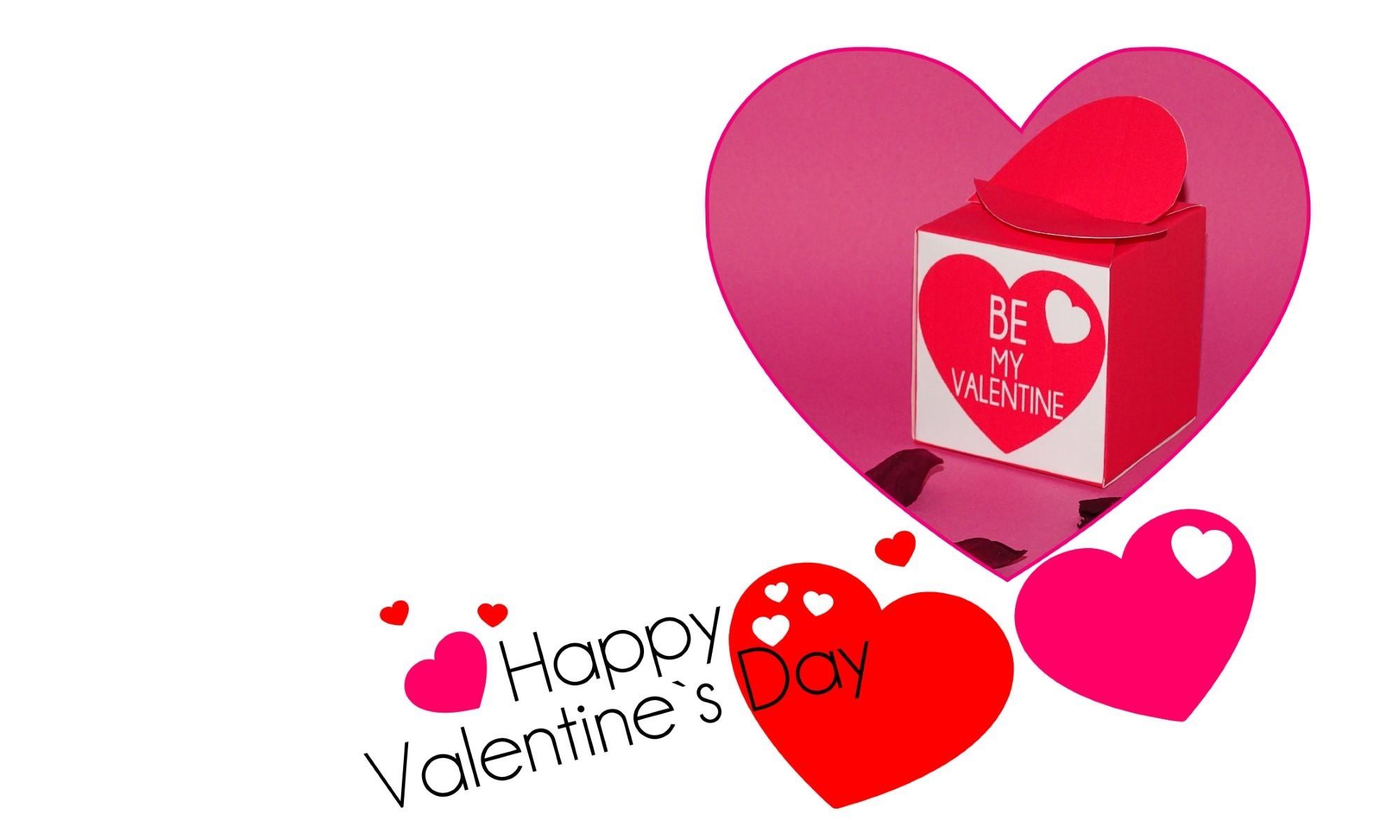 Valentinstag Herzschachtel Cover