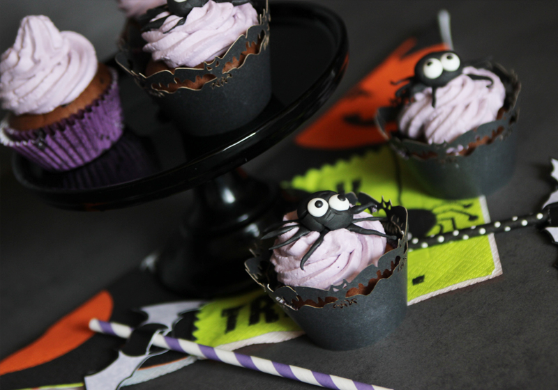 Halloween Spider Cupcakes 2