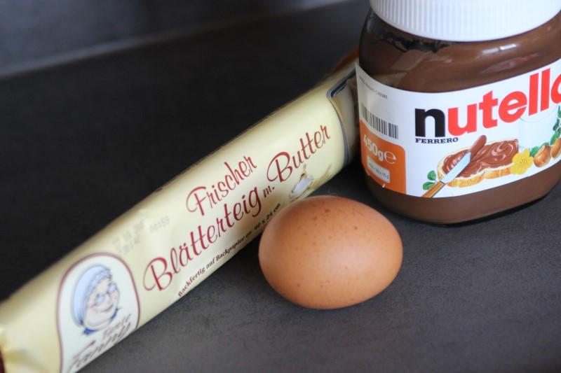 Nutella-Blätterteig-Schnecken - Zutaten