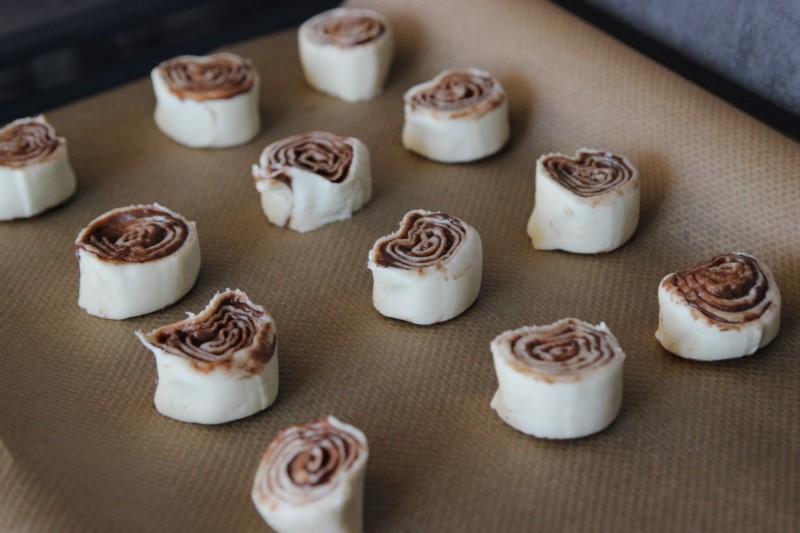 Nutella-Blätterteig-Schnecken - Schritt 4