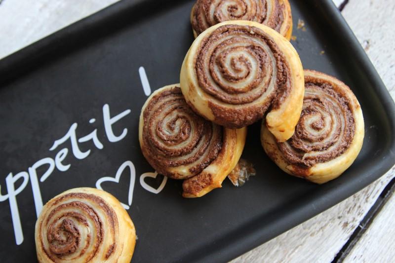 Nutella-Blätterteig-Schnecken - Fertig 4