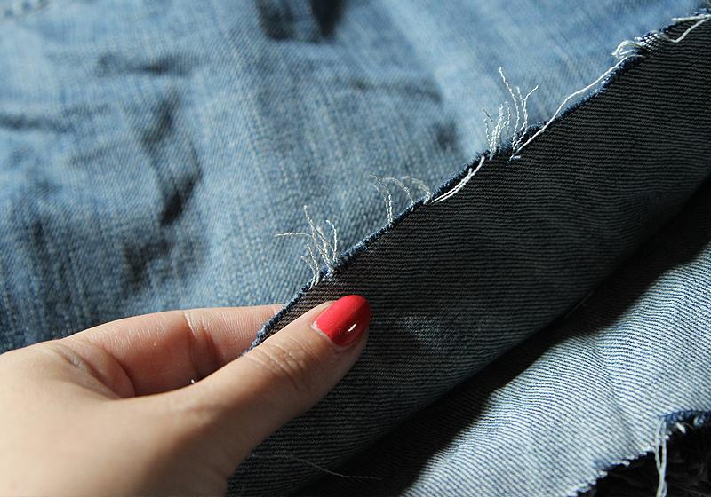 Jeansshorts mit Patches - Schritt 3