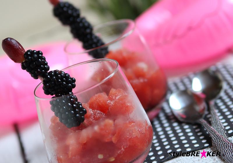 Wassermelone-Kirsch Slush Rezept 1e