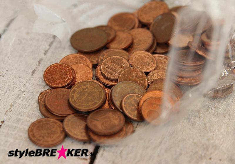 Deko Münzen Rosegold