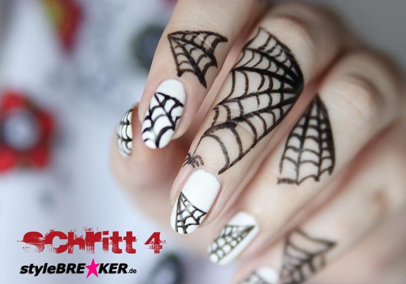 Halloween Nailart Spiderweb