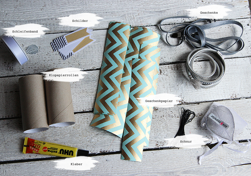 Upcycling Schmuckverpackung - Materialien