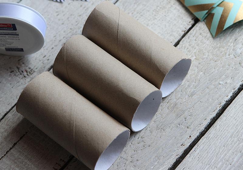 Upcycling Schmuckverpackung - Schritt 1