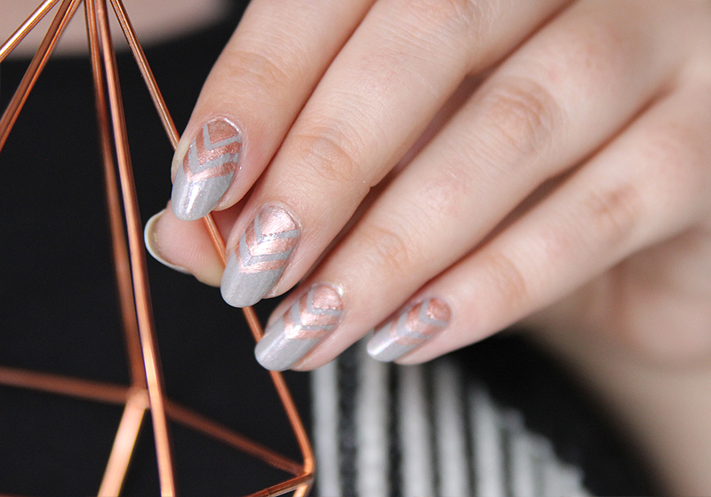Nailart Rosegold & Grey - Fertig 3