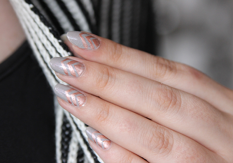 Nailart Rosegold & Grey - Fertig 4