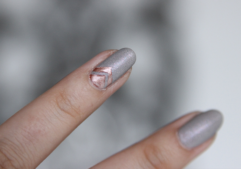 Nailart Rosegold & Grey - Schritt 7