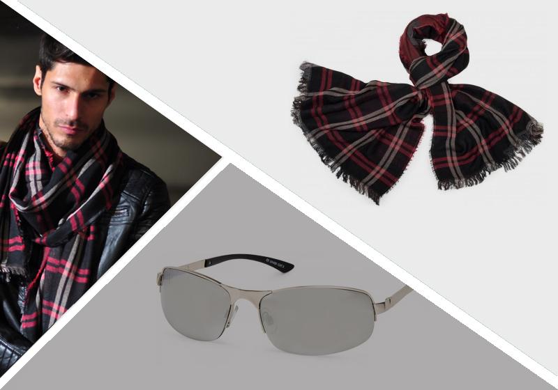 Vatertag Brille und Schal