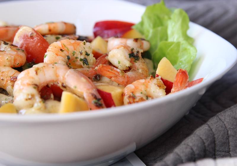 Garnelen auf Salat 1d