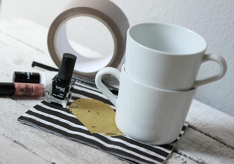 Tassen selbst gestalten - Materialien