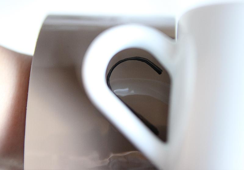 Tassen selbst gestalten Keramikstift - Schritt 1