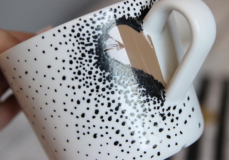 Tassen selbst gestalten Keramikstift - Schritt 4