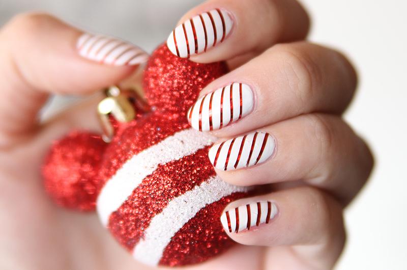 Tutorial Christmas Nails Tutorial Fur Anfanger Mit Tape